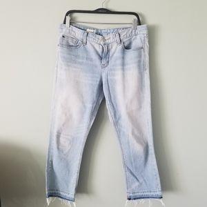 Gap jeans light denim capris size 30